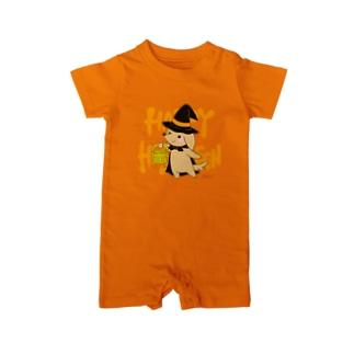 ハク先生《ほのぼの系イラスト描いてます》のハロウィン わんこ Baby rompers