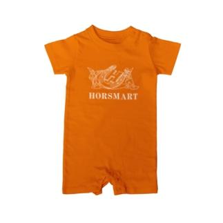HORSMART公式ショップの色選べます『HORSMARTオリジナル商品(ホワイト)』 Baby rompers