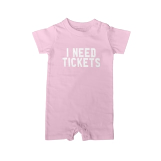 I NEED TICKETS - WHITE LOGO Baby rompers