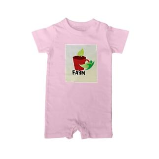 farmマンのナチュシリーズ Baby rompers