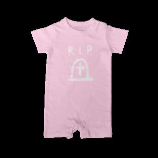 こおろぎさんちのシンプルR.I.P. Baby rompers