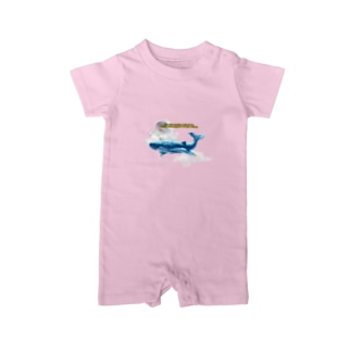 whale in the sky Baby rompers