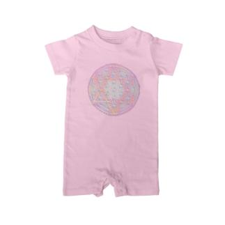 Rainbow Flower of Life & Hexagram Baby rompers
