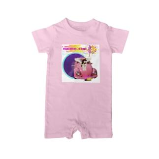 momo_emi ピンクのクルマ レコード Baby rompers