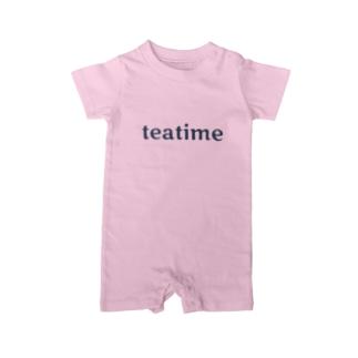 ティータイム Teatime ロゴグッズ Baby rompers