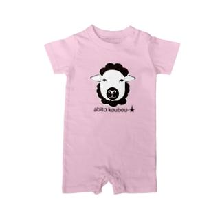 abitokoubou 羊 Baby Rompers