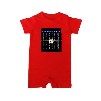 リッカーズロゴ&文字 Baby rompers