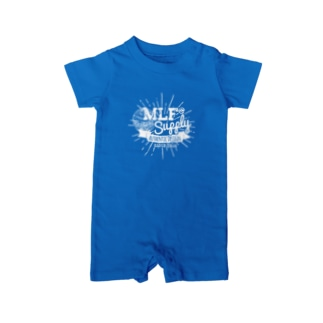 MLF@ SUPPLY-whiteロゴ Baby rompers