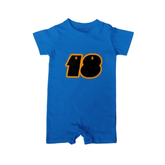 NUMBER.18【イエローロゴ】 Baby rompers
