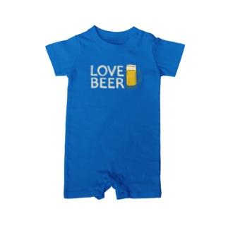 LOVE BEER Baby rompers