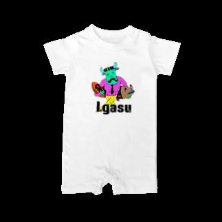 I.gasu🄬アイガスワールドのダンディーCOW【アイガス】 Baby rompers