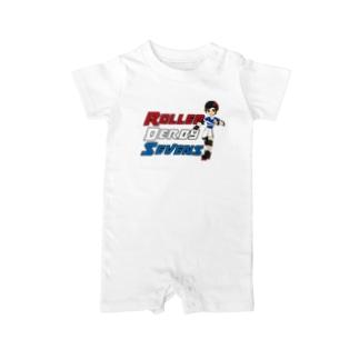 Roller Derby Sevens (Nanasuke) Baby rompers
