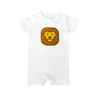 Savanna lion face Baby rompers