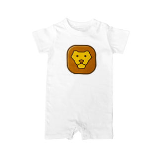 willnetのSavanna lion face Baby rompers