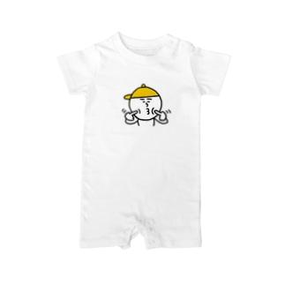 黄帽のヤツ Baby rompers