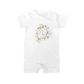 星座|冬空のダイアモンド Baby rompers