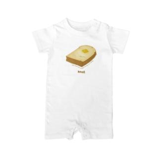 パンとバター -家族の朝食- Baby rompers
