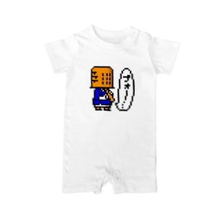 虚無僧(ドット) Baby rompers