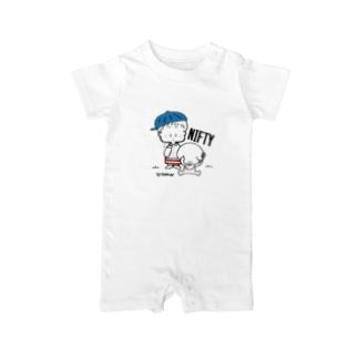 (わーくわくシリーズ)トリマーさん(Blue) Baby rompers