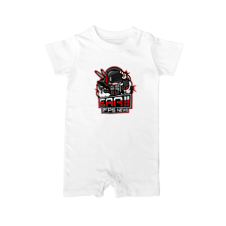 EAA!! Official Store - EAA!! 公式ストアの新ロゴ「EAA(いぇあ)軍曹(仮)」 v2 Baby rompers