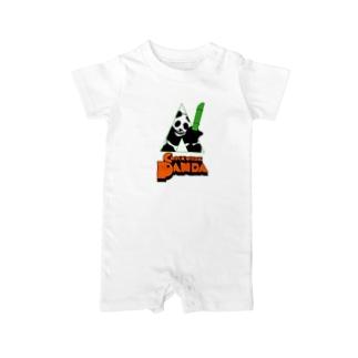 CLOCKWORK PANDA Baby rompers