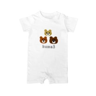 kuma3 くま Baby rompers