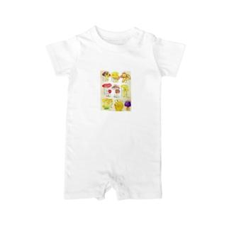 キノコ図鑑 Baby rompers