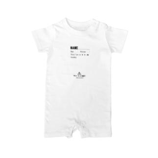 赤ちゃん注意書き Baby rompers