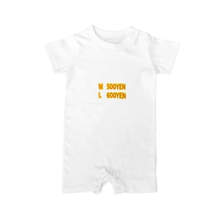 サイズ選び Baby rompers