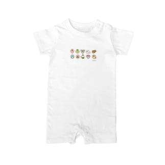 chackmoドットキャラグッズ(横) Baby rompers