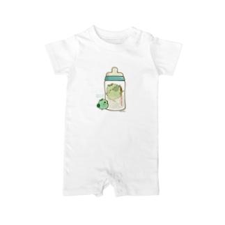 chackmo かっぱさん(哺乳瓶) Baby rompers