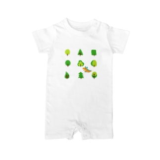 woods and dragon Baby rompers
