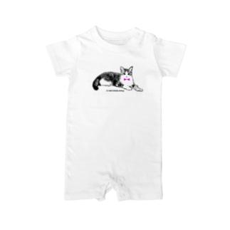 ネクタイ猫ちゃん Baby rompers