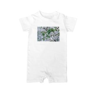 白い花 Baby rompers