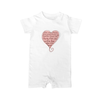 feel-soul-Heart Baby rompers