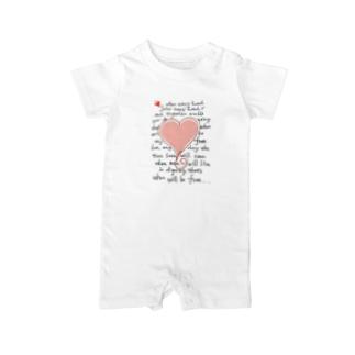 feel-free-Heart Baby rompers