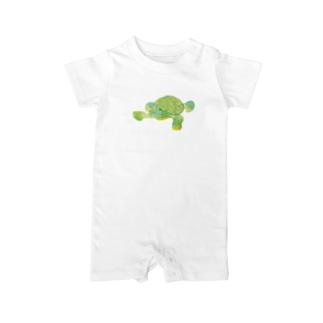 昭島の銭湯の亀 Baby rompers
