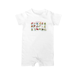 博物雑貨 金烏の花言葉 - Blomstersproget Baby rompers