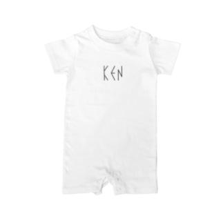 カナクギフォント「KEN」 Baby rompers