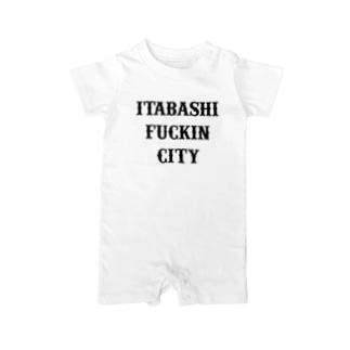 ITBS fuckin city Baby rompers