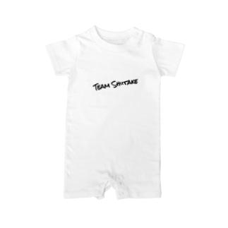 チームしいたけTシャツ Baby rompers