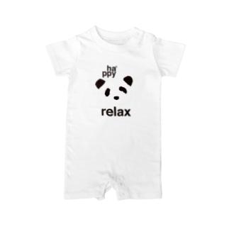 ha*ppy panda Baby rompers