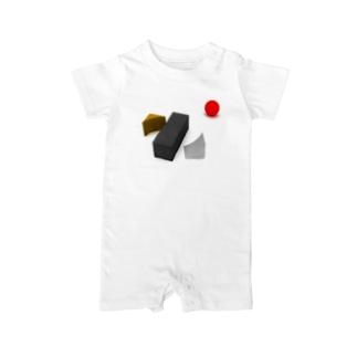 K. and His Designの100日後に死ぬ◯◯◯◯◯ Baby rompers