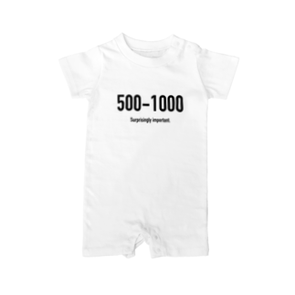 wlmのPOINTS - 500-1000 Baby rompers
