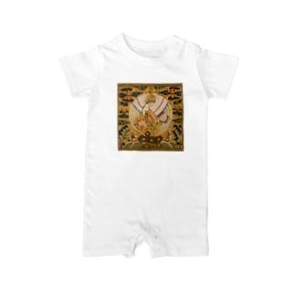 METの補子Tシャツ1-文官一品(仙鶴) Baby rompers