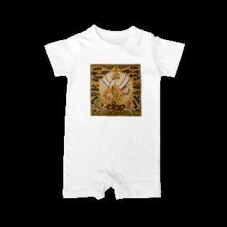 K子のお店@主に自分用のMETの補子Tシャツ1-文官一品(仙鶴) Baby rompers