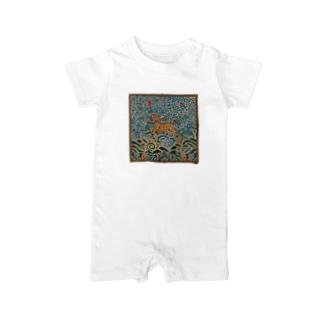 METの補子Tシャツ4-武官一品(麒麟) Baby rompers