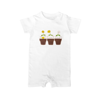 P-PiGの芽吹いただわよ Baby rompers