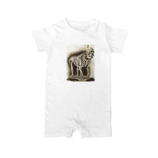 銅版画による人体骸骨 Baby rompers