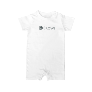 Crowi Fun ShopのCrowi Letter Logo Baby rompers